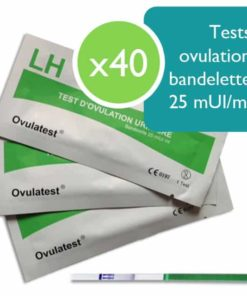 40 tests d'ovulation bandelette 25 mUI