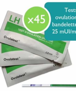 45 tests d'ovulation bandelette