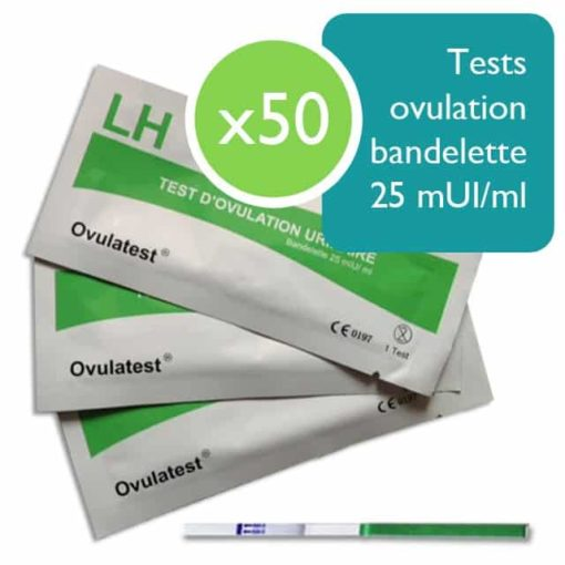 50 tests d'ovulation bandelette 25 mUI