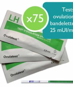 75 tests d'ovulation bandelette 25 mUI/ml