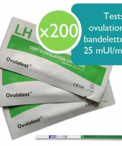 200 tests d'ovulation 25 mUI/ml