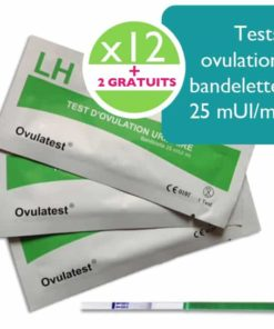 12 tests d'ovulation bandelette + 2 tests offert