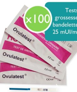 100 tests d'ovulation bandelette