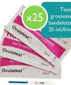 25 tests de grossesse bandelette