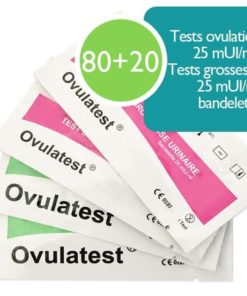 80 tests d'ovulation bandelette 25 mUI + 20 tests de grossesse 25 mUI
