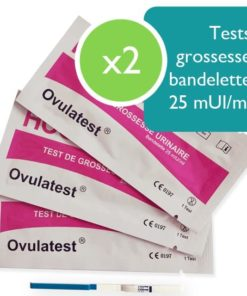 2 tests de grossesse bandelette 25 mUI
