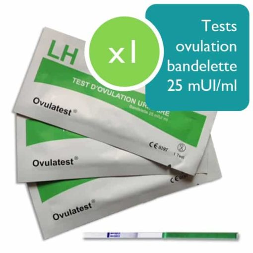 1 test d'ovulation bandelette 25 mUI/ml